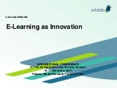 e-Learning as Innovation