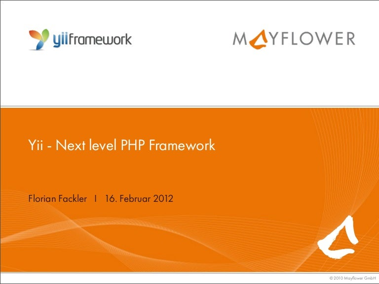 yii next level php framework von florian facker