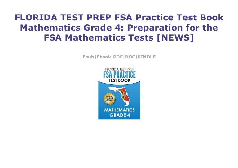 FLORIDA TEST PREP FSA Practice Test Book Mathematics Grade 4: