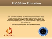 FLOSS for Education