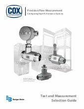 Flow Instruments for Test and Measurement Selection Guide by Badger Meter