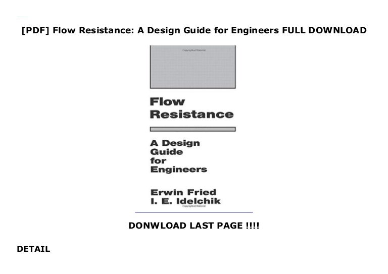 Pdf Flow Resistance A Design Guide For Engineers Full Download