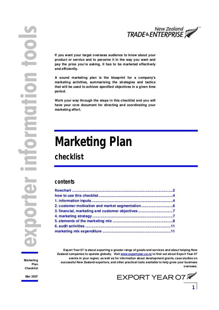 flow chart of marketing plan