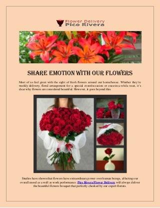 Flower delivery Pico Rivera