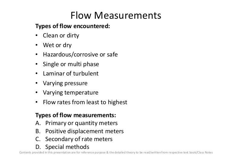 Flow measurement pdf