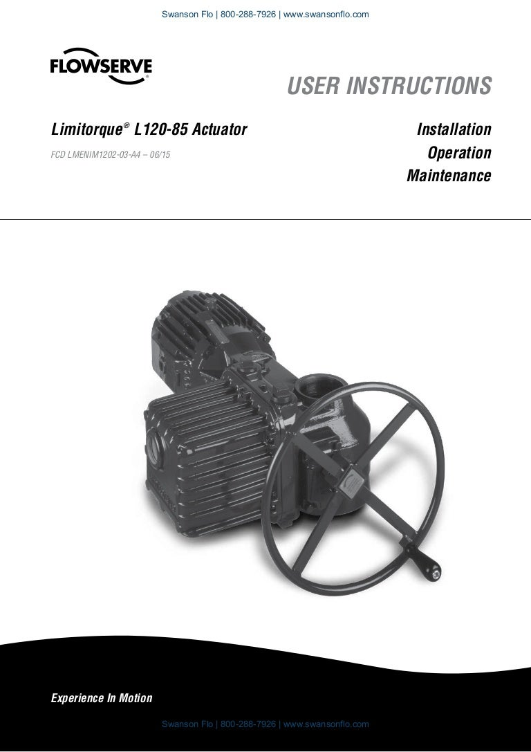 flowserve limitorque l120 85 electric actuator iom Limitorque Parts List Limitorque Drawings