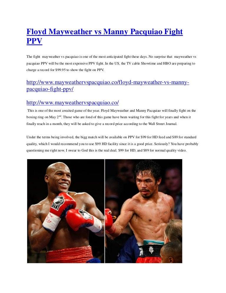 Floyd vs manny dates