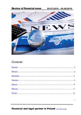FLP - Review of financial news 05.08.2019