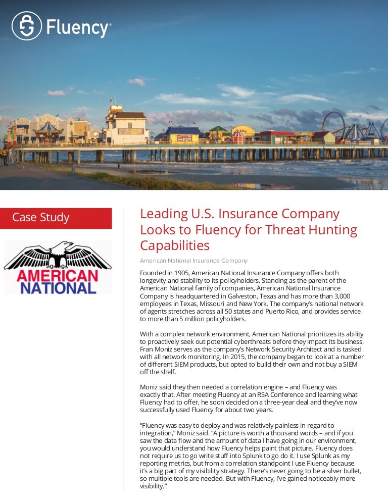 Fluency Success Story American National Insurance Company