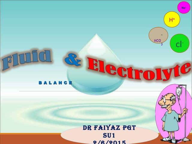 Fluid and electrolyte balance