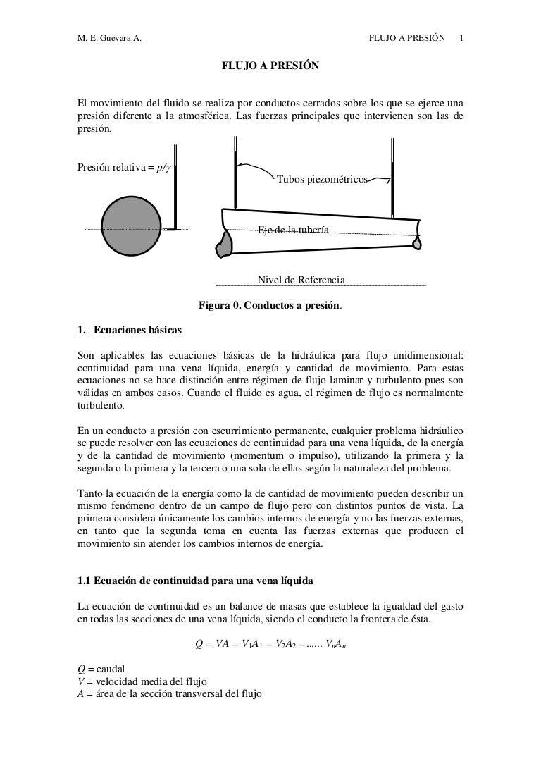 Circuito Hidraulico Mixto : Flujo a presion