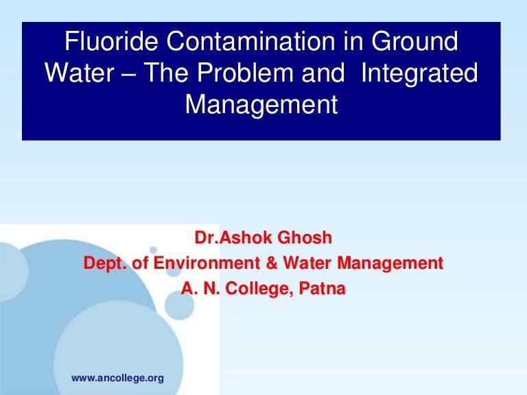 Fluoride contamination in ground water