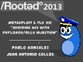 Juan A. Calles y Pablo González - Metasploit & Flu-AD: Avoiding AVs with Payloads/DLLs Injection [Rooted CON 2013]