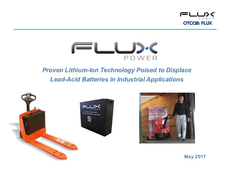 Flux Power Lithium-Ion Industrial Batteries - Investor Presentation O…
