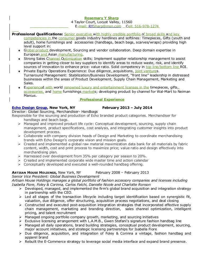 Rosemary Sharp\'s Resume