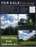 38 Mort Vining Road, Southwick, MA 01077 - 86+ acres of gorgeous land for sale in Southwick at CT border