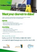 training for the cleaning industry -Practical Cleaning Skills Qualification / Cleaning Courses, Cleaning NVQs, training cleaning services