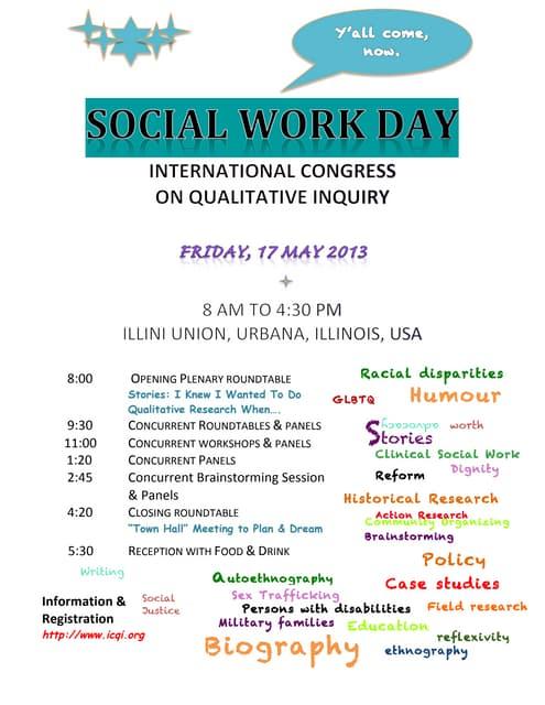 International Qualitative Social Work Research Day