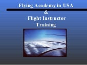 Flying Academy in USA & Flight Instructor Training