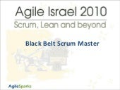 Black belt scrum master