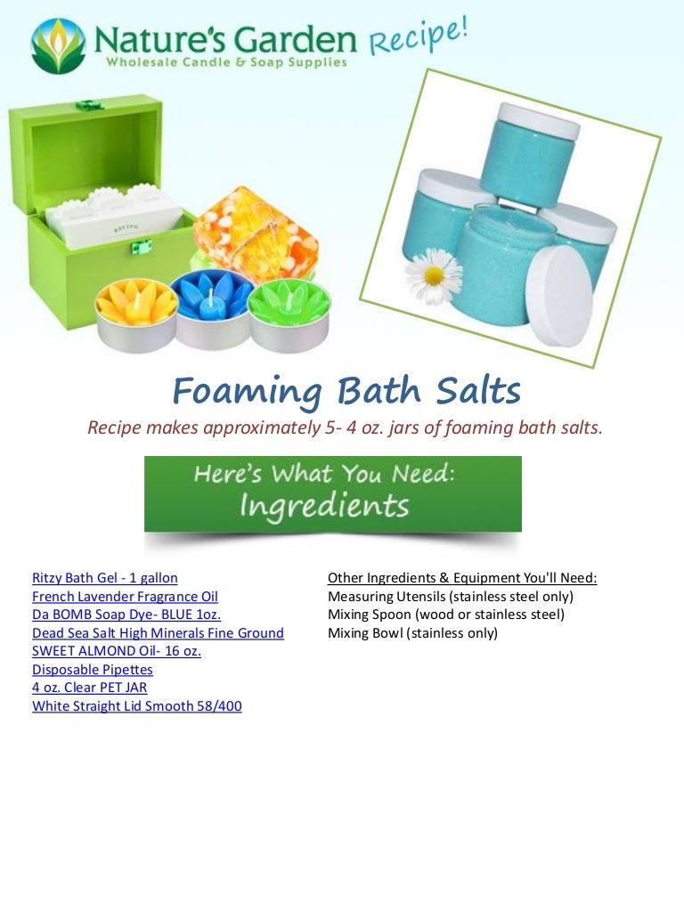 Foaming bath-salts