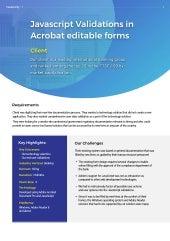 Javascript Validation in Acrobat editable forms - Case study 1