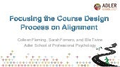 Focusing the Course Design Process on Alignment