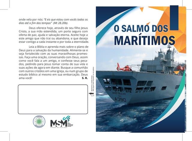 O SALMO DOS MARÍTIMOS - Folheto para evangelização de Marinheiros - Impressão em gráfica - Português