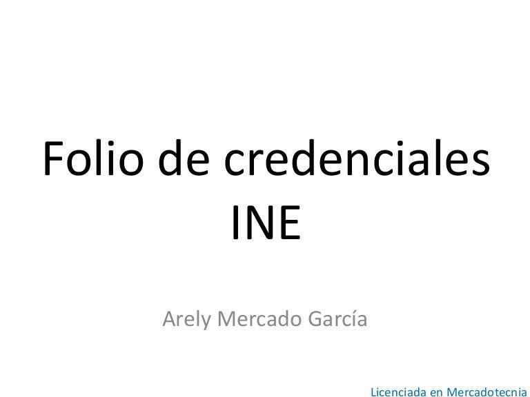 Folio de credenciales ine