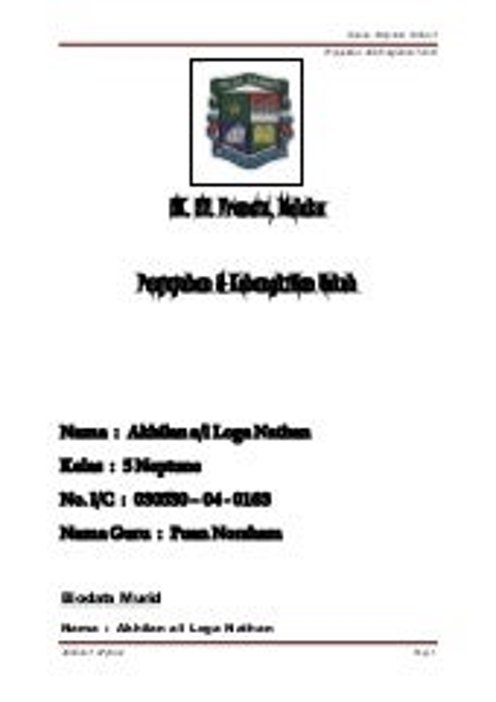 Folio Tahun 5 Penjajahan Dan Tokoh