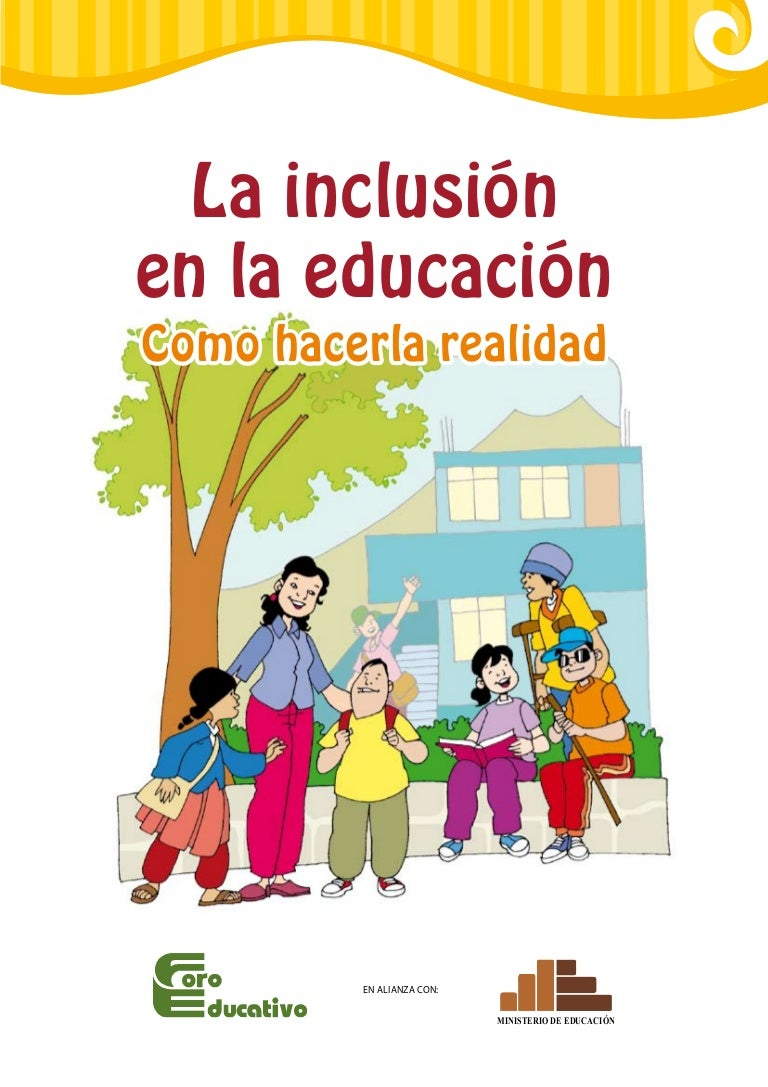 folleto de la educaci243n inclusiva
