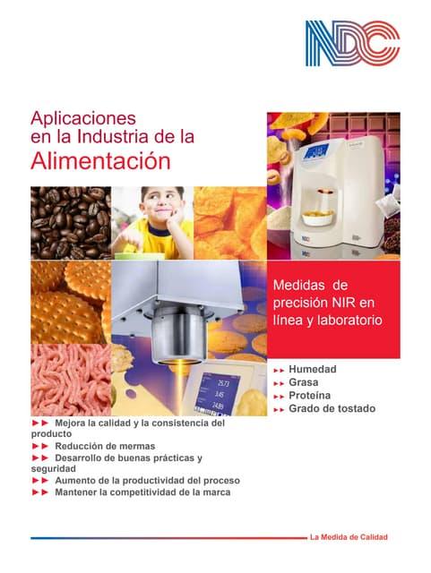 Folleto ndc para aplicaciones en la industria alimentaria