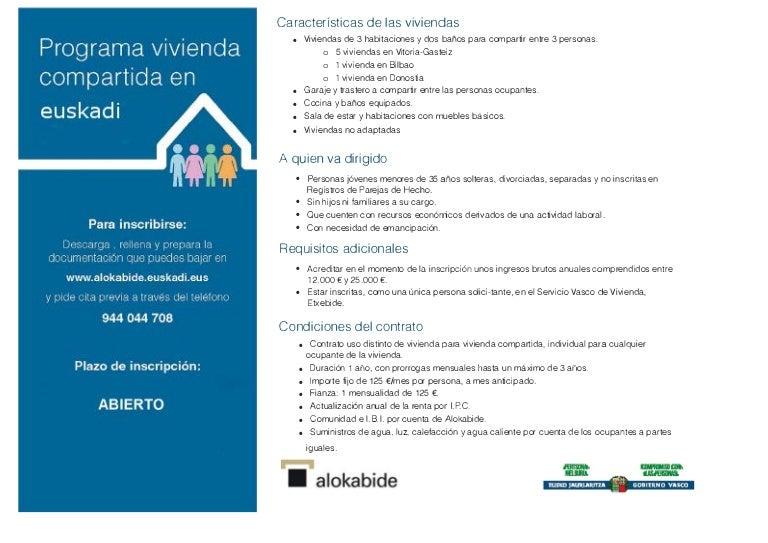 Programa de vivienda compartida en Euskadi