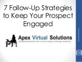 7 Follow up strategies to keep your prospect engaged