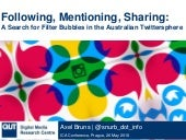 Following, Mentioning, Sharing: A Search for Filter Bubbles in the Australian Twittersphere