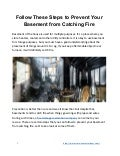 Follow These Steps to Prevent Your Basement from Catching Fire