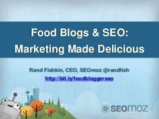SEO for Food Bloggers 2012