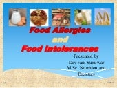 Food allergies and food intolerances ppt