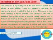 Sun Food Tech - Food colors manufacturers & Suppliers in India