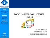 Food labelling laws in india