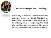Process Management Consulting to Engross Critical Food Safety Practices