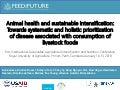 Animal health and sustainable intensification: Towards systematic and holistic prioritization of disease associated with consumption of livestock foods