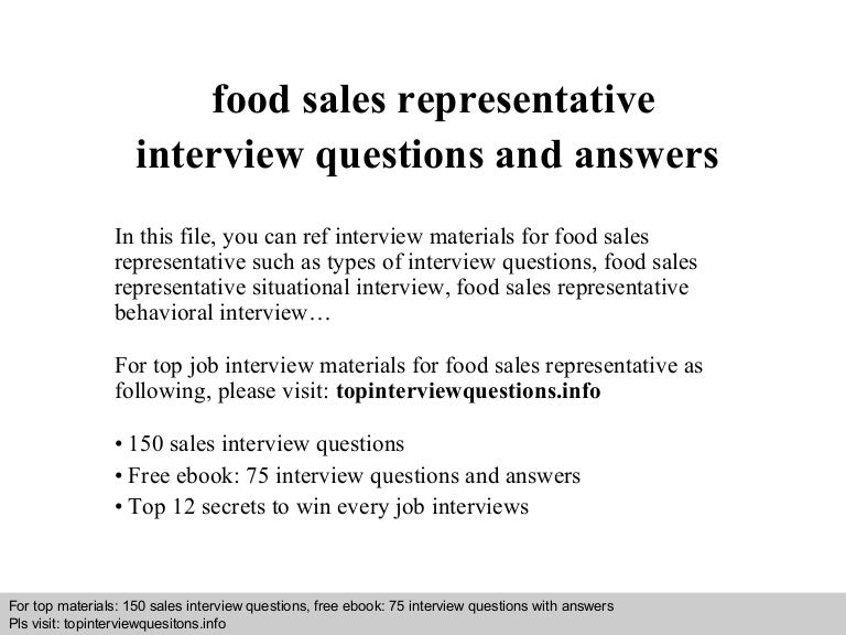 Salesman Interview Questions