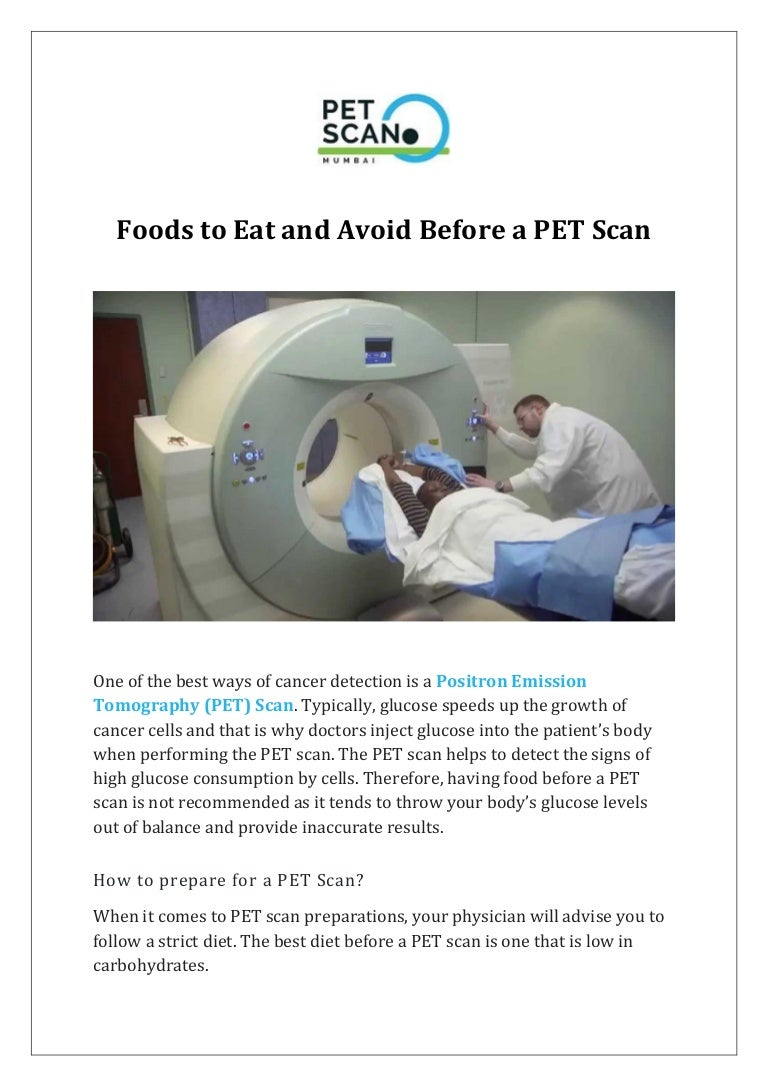 no carb diet before pet scan