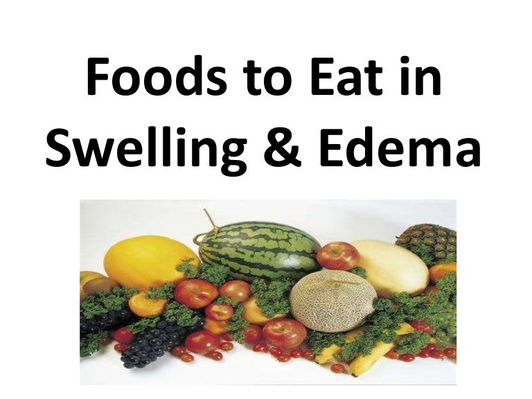 plant based whole food diet to cure edema