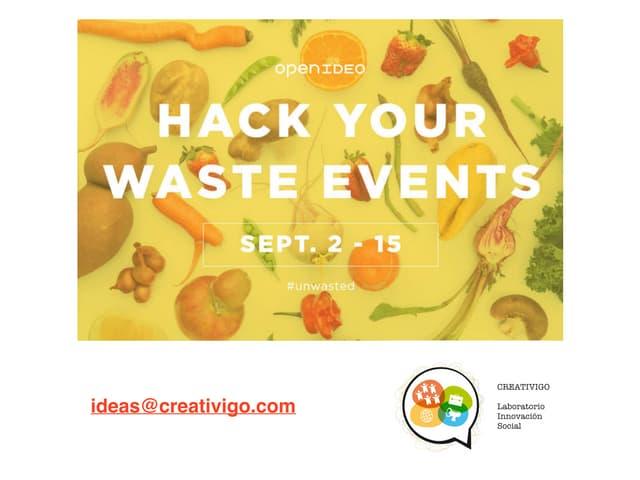 Hack Your Waste Food , No tires alimentos.