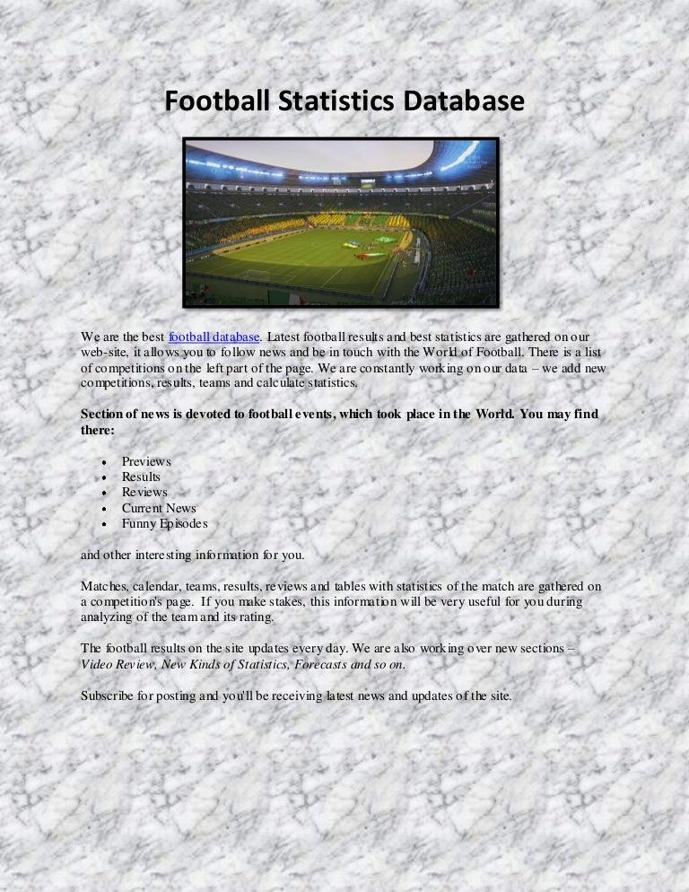 Database Results Football Statistics - image 4