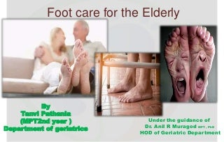 Structural and Functional foot problems in the elderly