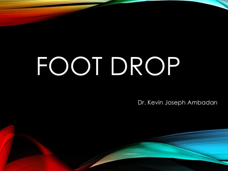Foot drop toneelgroepblik Gallery