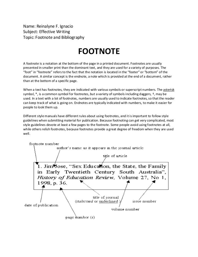 essay with footnotes